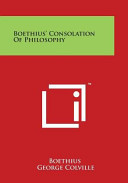 Boethius  Consolation of Philosophy Book PDF