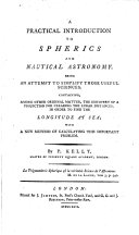 A Practical Introduction to Spherics and Nautical Astronomy