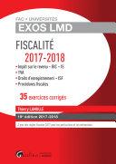 Fiscalité 2017-2018 - 35 exercices corrigés