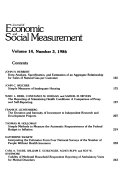 Journal of Economic and Social Measurement