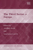 Pdf The Third Sector in Europe Telecharger