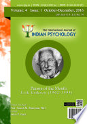 The International Journal Of Indian Psychology Volume 4 Issue 1 No 74