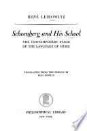 Schoenberg and his school