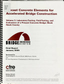 Precast Concrete Elements for Accelerated Bridge Construction