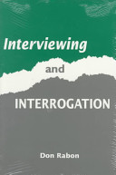 Interviewing and Interrogation Book