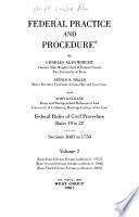 Federal Practice and Procedure: Civil