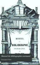 Manuel du bibliographie normand