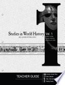 Studies In World History Volume 1 Teacher Guide
