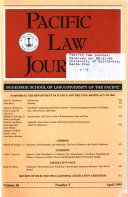 Pacific Law Journal Book