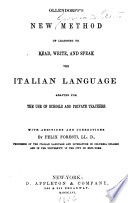 New Method of Learning to Read, Write, and Speak the Italian Language