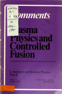 Comments on Plasma Physics and Controlled Fusion