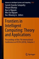 Frontiers in Intelligent Computing  Theory and Applications