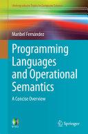 Programming Languages and Operational Semantics Pdf/ePub eBook