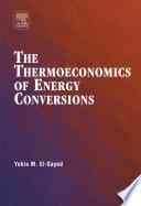The Thermoeconomics Of Energy Conversions Book PDF