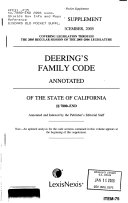 Family code annotated of the State of California