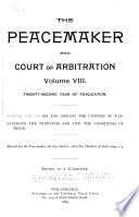 The Peacemaker and Court of Arbitration Book