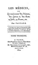Les Medicis ou la renaissance des sciences, des lettres et des arts en Italien et en France