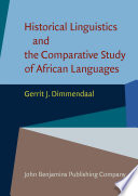 Historical Linguistics and the Comparative Study of African Languages