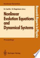 Nonlinear Evolution Equations and Dynamical Systems