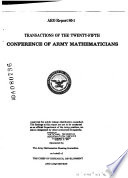 Transactions of the Conference of Army Mathematicians