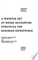 A tentative set of broad accounting principles for business enterprises