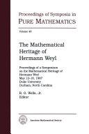 The Mathematical Heritage of Hermann Weyl