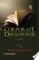 Corporate Disclosures