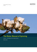 The Rieter Manual of Spinning - Volume 1 Pdf
