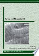 Advanced Materials XII