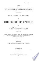 The Texas Court of Appeals Reports