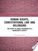 Human Rights, Constitutional Law and Belonging