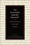 """""""Are economists basically immoral?"""""""