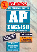 Barron s how to Prepare for the AP English Advanced Placement Examinations Book