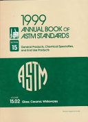 1999 Annual Book Of Astm Standards