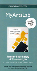 New Myartslab with Pearson Etext    Standalone Access Card    For Janson s Basic History of Western Art