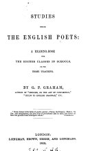 Pdf Studies from the English poets