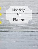 Monthly Bill Planner Book