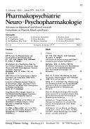 Pharmakopsychiatrie   Neuro Psychopharmakologie Book