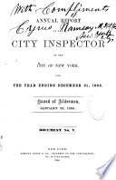 Annual Report of the City Inspector  of the City of New York      Book