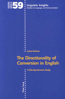 The Directionality of Conversion in English