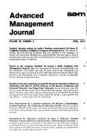 S A M  Advanced Management Journal