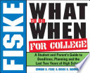 Fiske what to Do when for College, 2005-2006