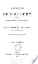 A dictionary of chemistry   Second  Third suppl