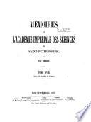 Mémoires de l'Academie impériale des sciences de St.-Pétersbourg