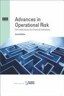 Advances in Operational Risk Book