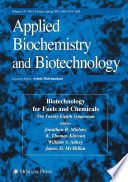 Biotechnology For Fuels And Chemicals Book PDF