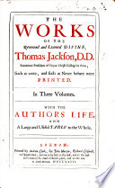 The Works Of T Jackson Etc