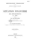 Situation financière des départements et des communes de France en ...