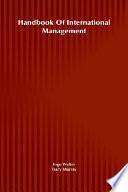 Handbook Of International Management