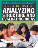Tips   Tricks for Analyzing Structure and Evaluating Ideas Book